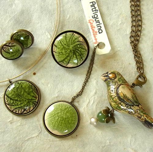Keramikschmuck grün